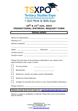 TSXPO Brisbane promotional request